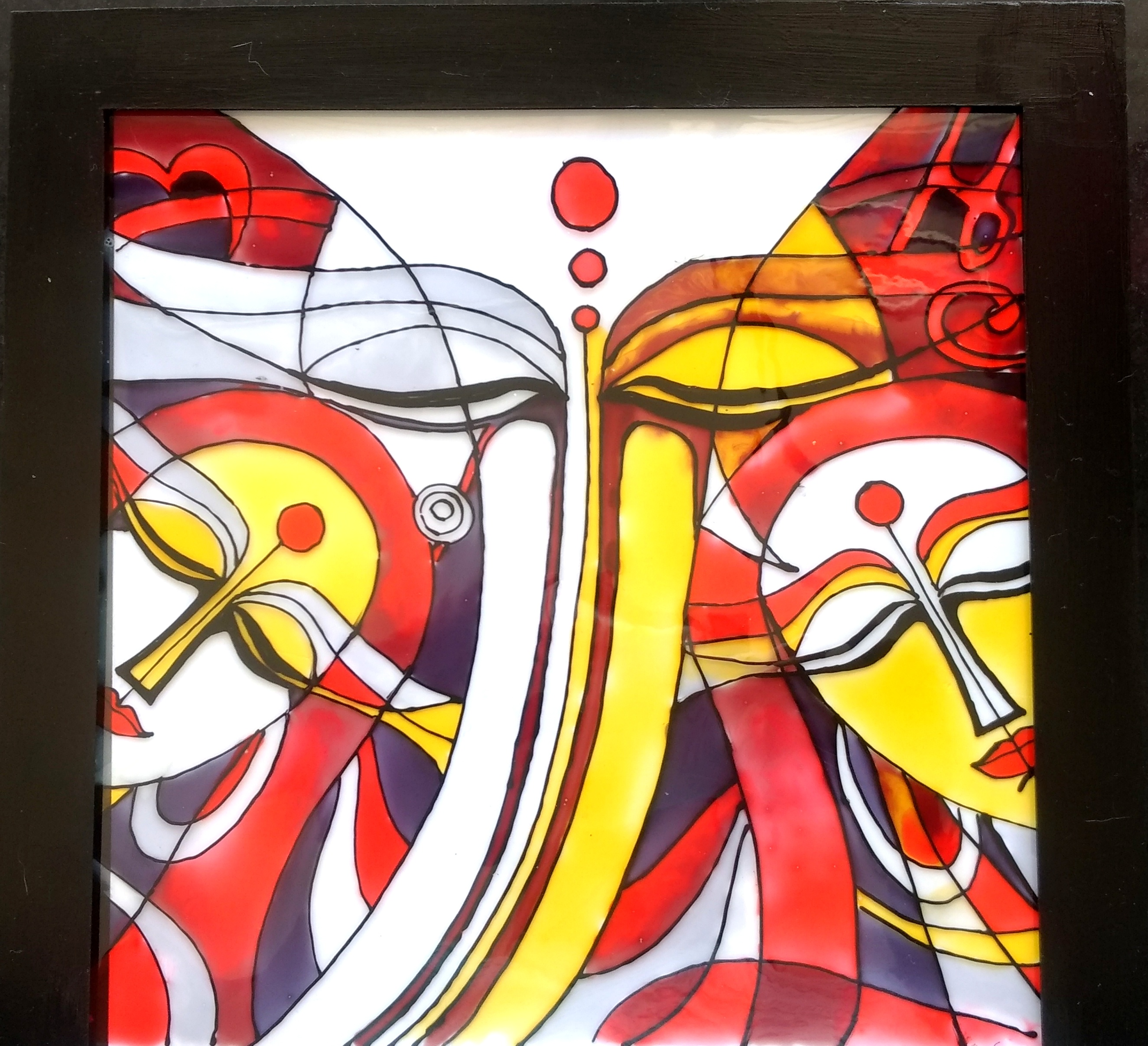 glass painting Get the beauty of stained glass without the fuss by making a reverse glass  painting this painting style has been a popular art form and craft for many  centuries.