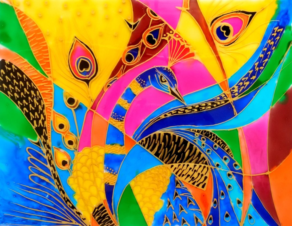 Abstract Glass Painting Creative Art