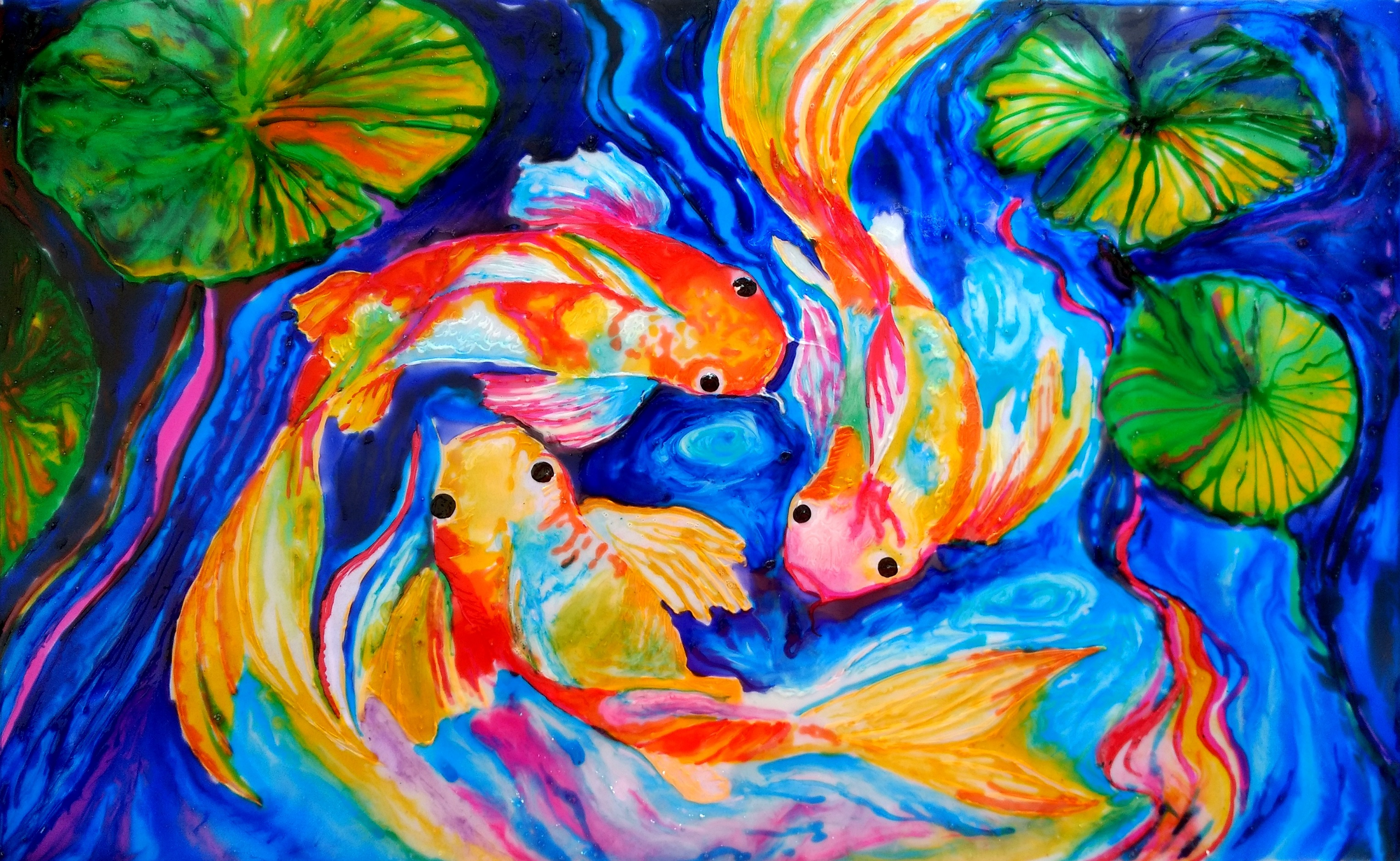 Acylic into glass painting creative art for Creative painting by design