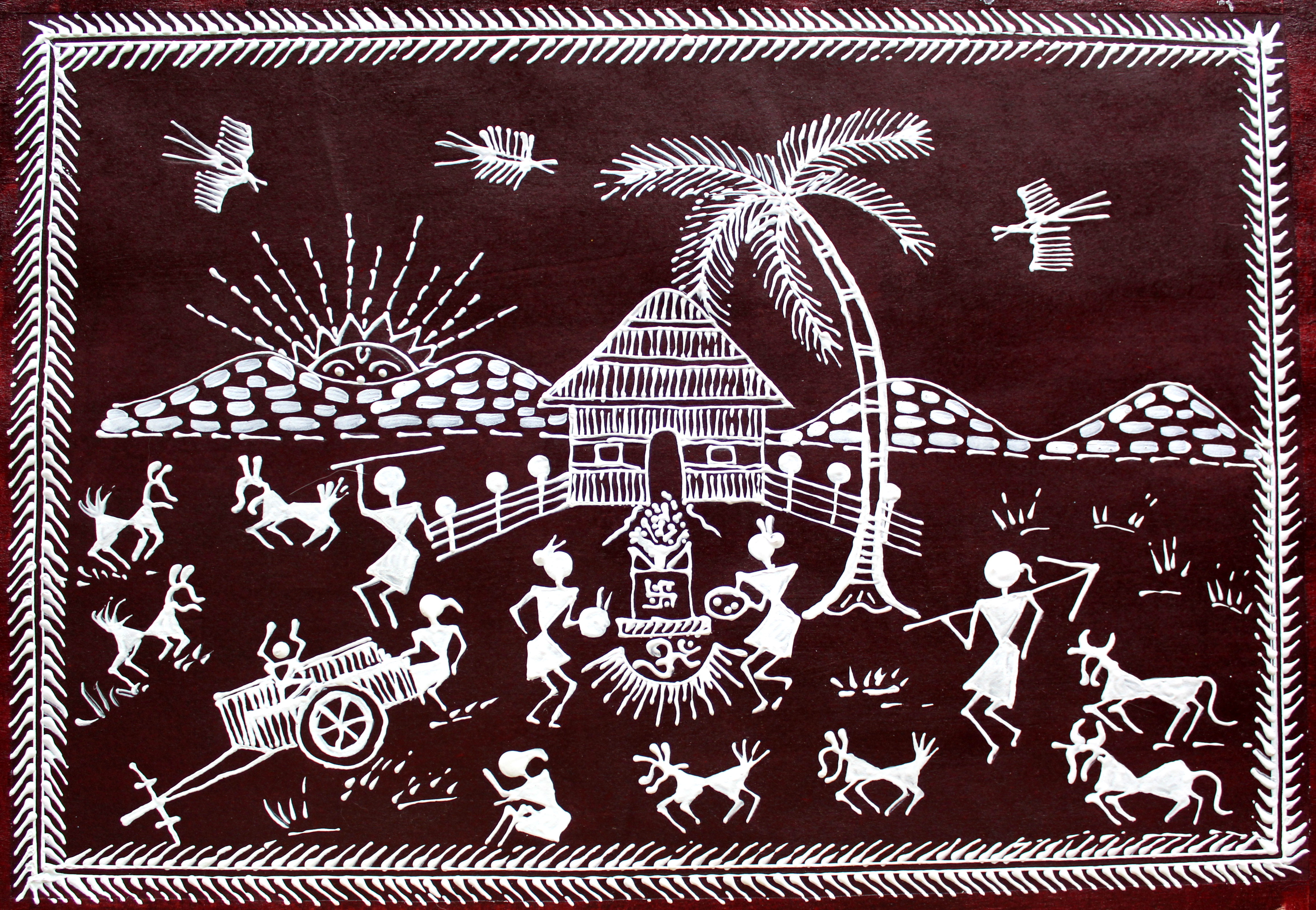 Warli painting creative art warli painting thecheapjerseys Image collections